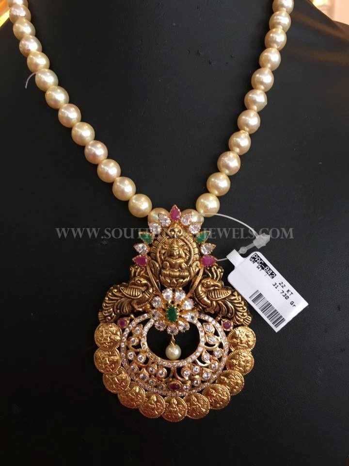 Pearl Mala With Antique Pendant South