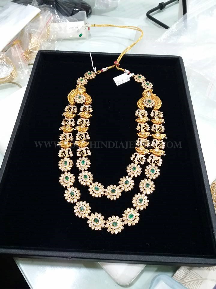 Two Layer Diamond Step Necklace From Vajra Jewelry