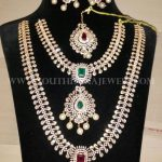 Complete Diamond Bridal Necklace Set