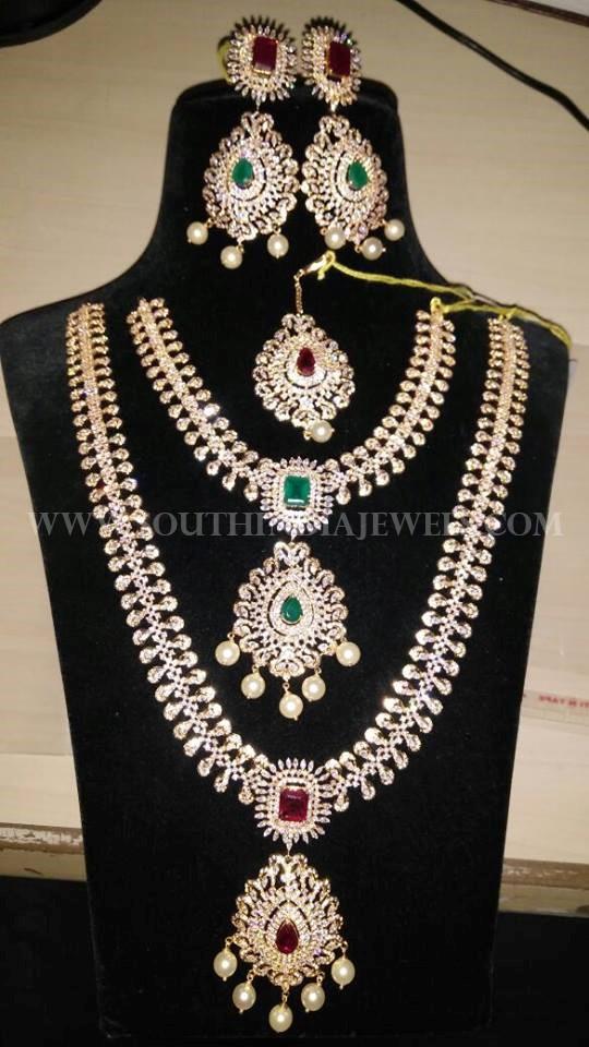 Complete Diamond Bridal Necklace Set