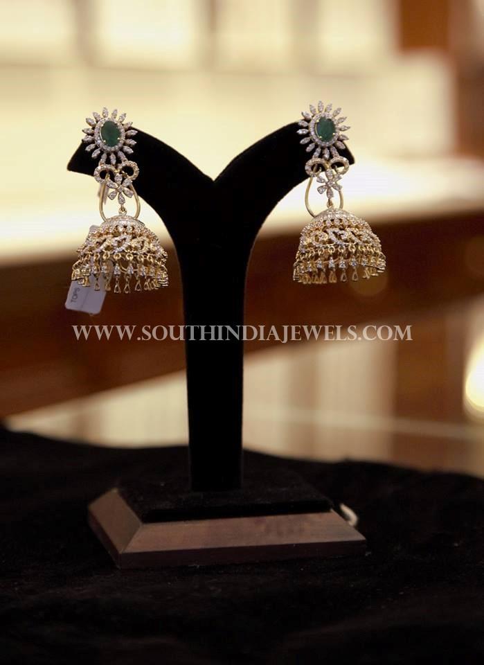 Diamond Jhumka From Dinesh Jewellers