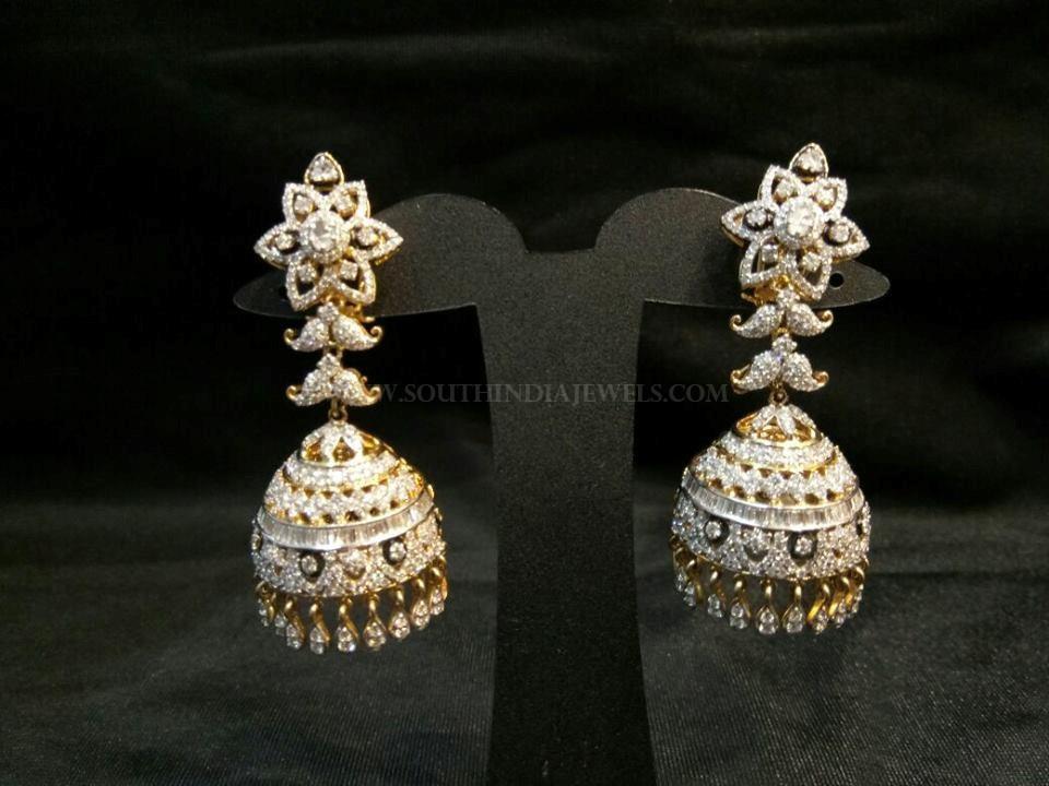 Diamond Jhumka From Sri Balaji Jewellers