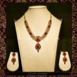 Gold Ruby Necklace From Dinesh Jewellers