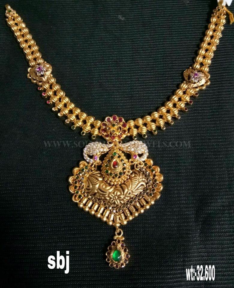 Simple 22K Gold Necklace From Sri Balaji Jewellers