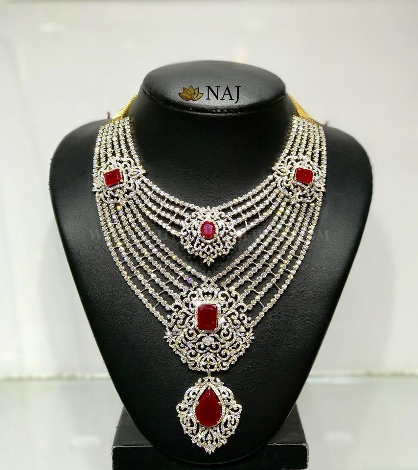 Bold Bridal Diamond Necklace From Naj Jewellery