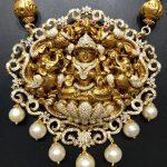 Diamond Temple Pendant Design From Naj Jewellery
