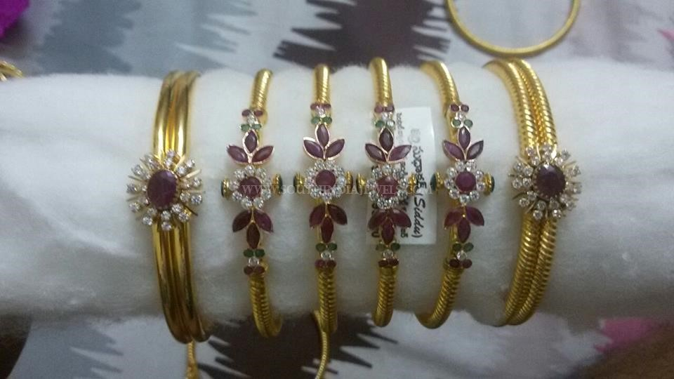 Gold Ruby Bangle Collections