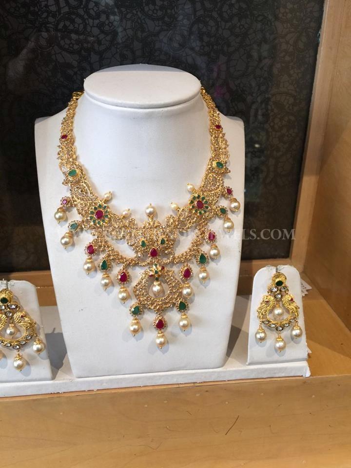 Gold CZ Step Necklace Design