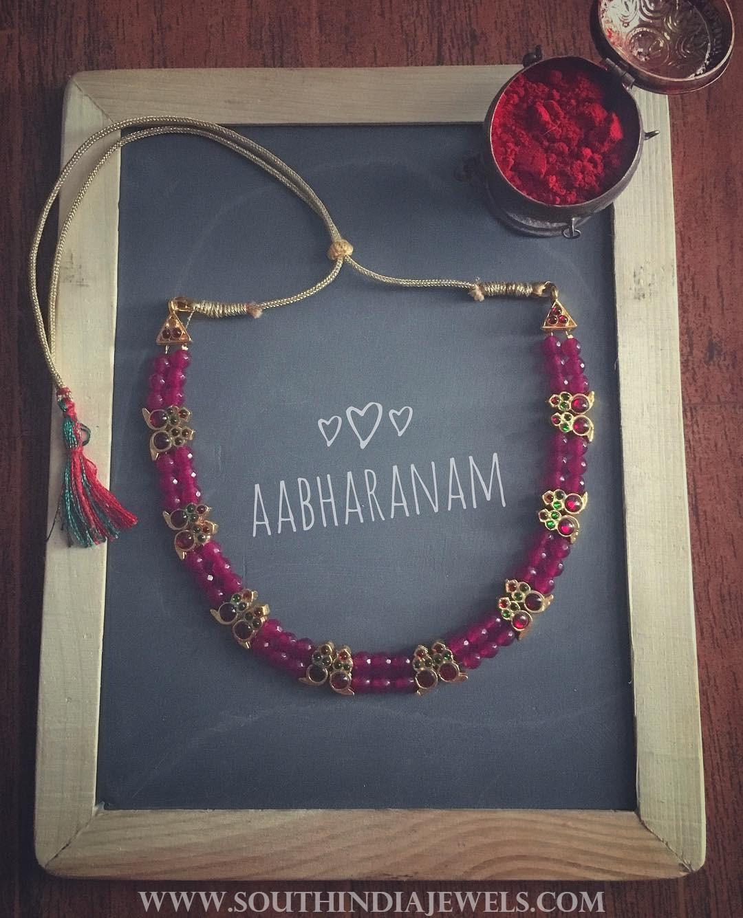 Beaded Kemp Necklace From Abharanam