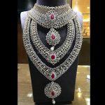 Diamond Bridal Jewellery Set From  P. Satyanarayan & Sons