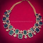 Beautiful Diamond Emerald Necklace From Manjula Jewels