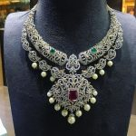 Diamond Step Necklace From P.Satyanarayan & Sons Jewellers