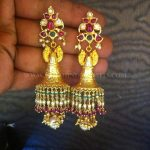 Gold Antique Jhumka From Tirupati Jewellers