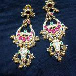 Gold Designer Antique Earrings