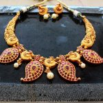 Gold Plated Mango Ruby Necklace From Aatman