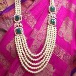 Pearl Haram With Emerald Side Locket