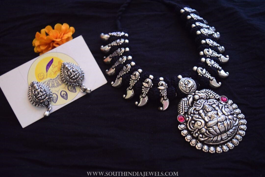 Silver Thread Necklace From Quills & Spills