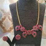 22k Gold Plated Ruby Necklace From BCOS Its Silver