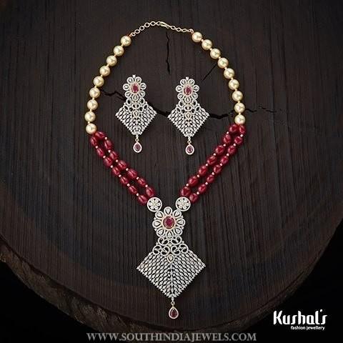 Designer CZ Stone Imitation Necklace