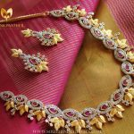 Gold Plated Stone Necklace Set From Ms Pink Panther
