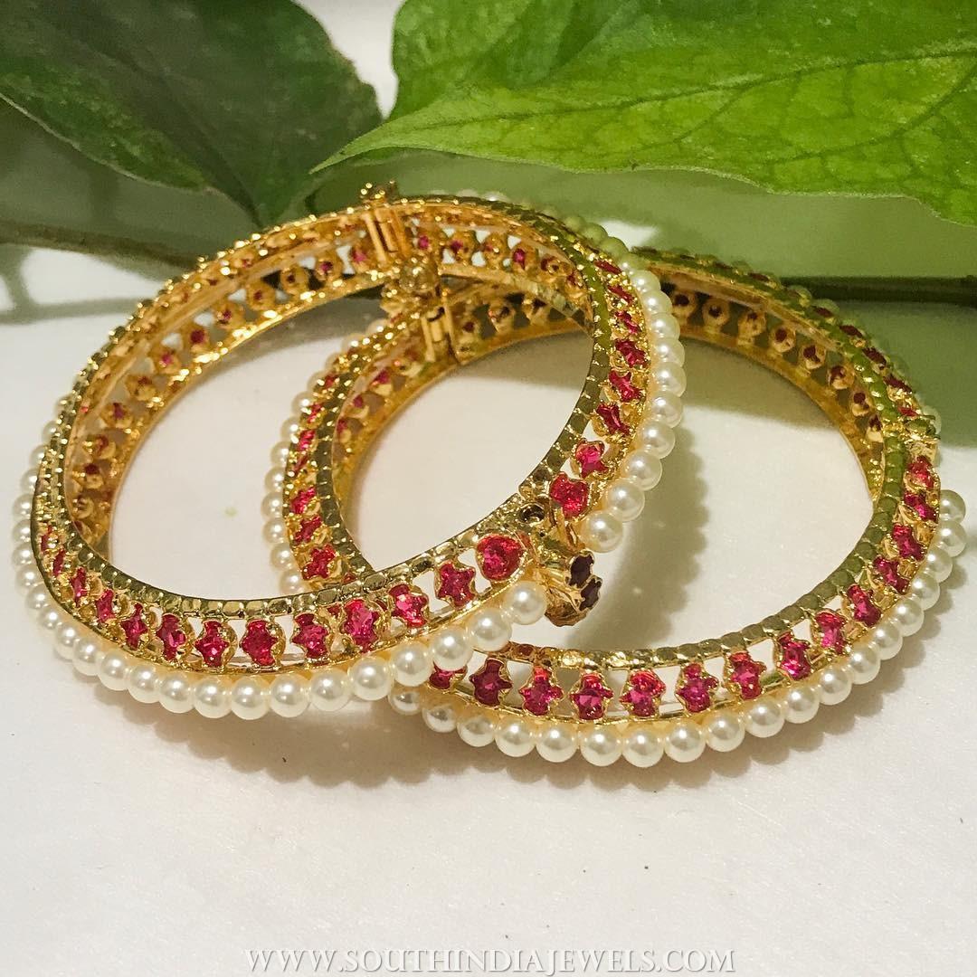 Imitation Pearl Bangle From Aatman