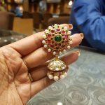 Pearl Kundan Jhumka From Bhavani Jewellers
