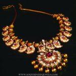 Gold Antique Mango Necklace From Manjula Jewels