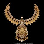 Gold Temple Necklace From P.Satyanarayan & Sons Jewellers