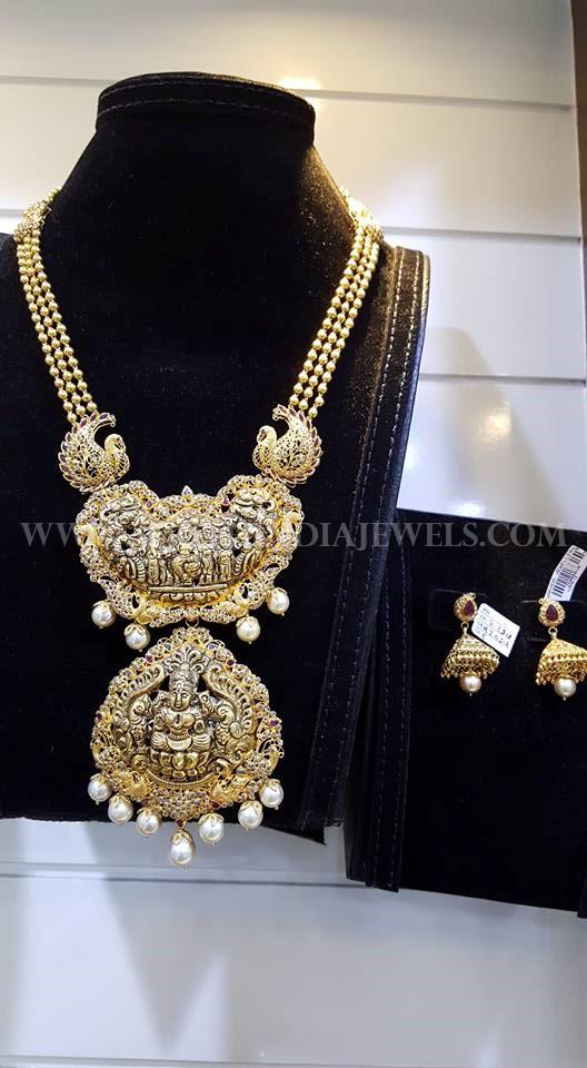 Gold Latest Model Temple Haram Design