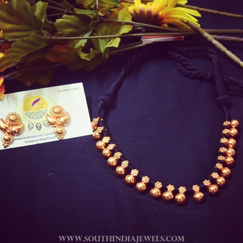 Imitation Thread Necklace From Quills & Spills
