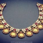 Beautiful Gold Coin Necklace From Manjula Jewels