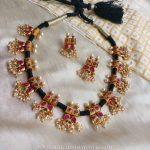 Black Thread Necklace From Rimli Boutique
