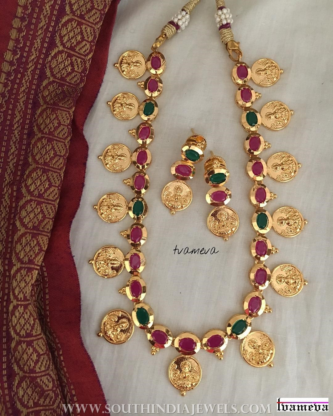 Gold Plated Coin Necklace From Tvameva