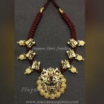 Thread Necklace With Coin Motifs