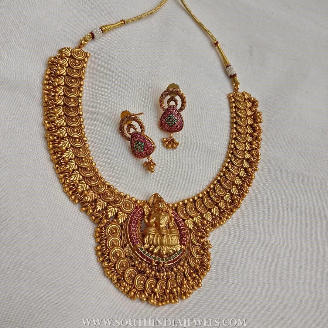 Gold Plated Antique Attigai From Rimi Boutique