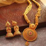 Bridal Haram & Jhumka From Manubhai Jewellers