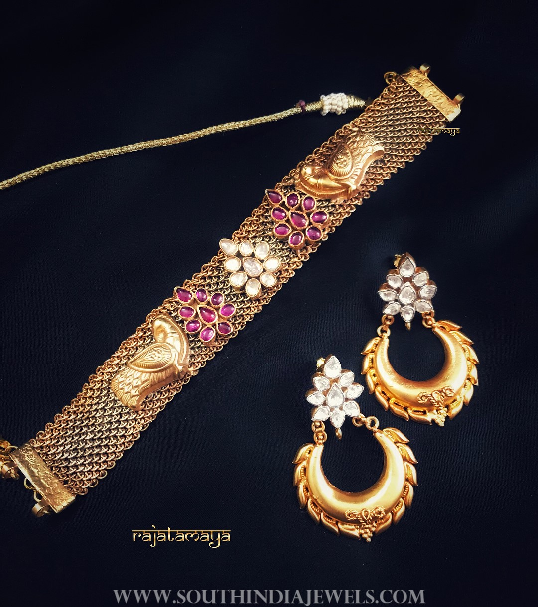 Antique Choker & Earrings From Rajatamaya