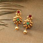 Designer Gold Earrings From Manubhai Jewellers