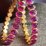 Gold Plated Ruby Bangle From Ms Pink Panther