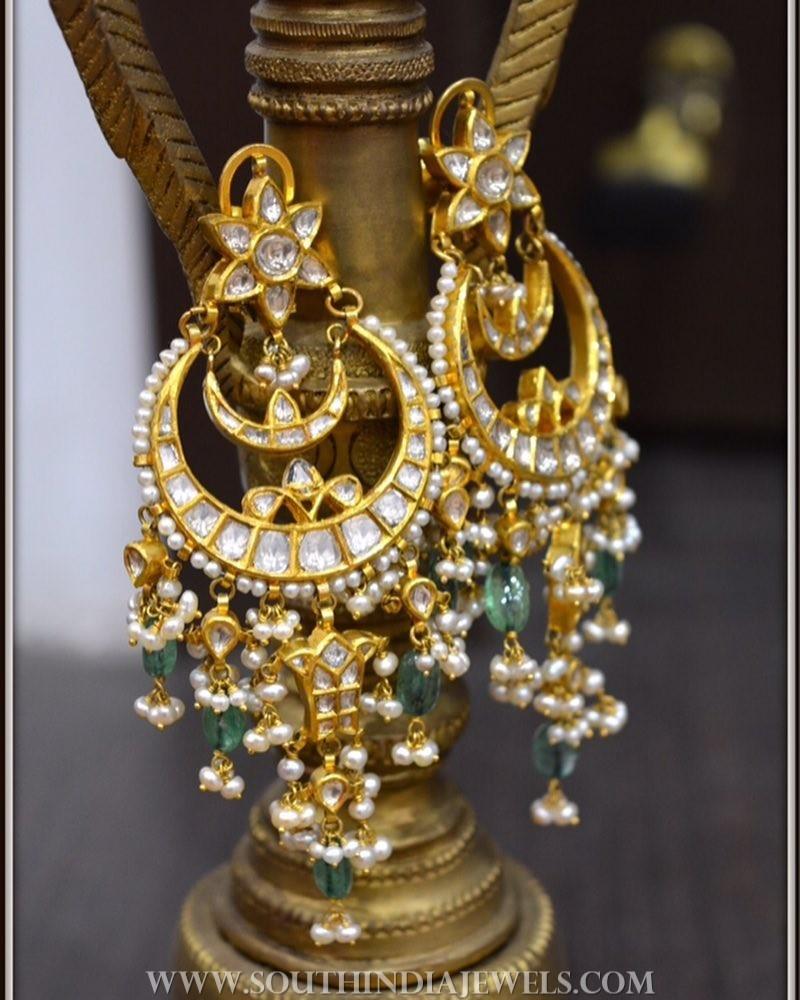 Gold Polki Earrings From Parnicaa