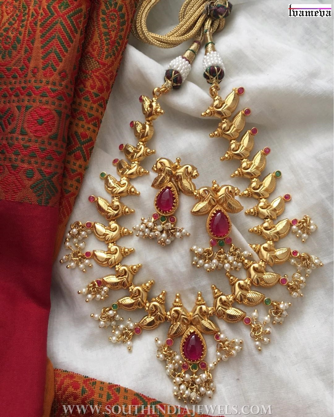 Gorgeous Gold Plated Necklace Set From Tvameva