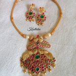 One Gram Gold Ruby Emerald Attigai Set