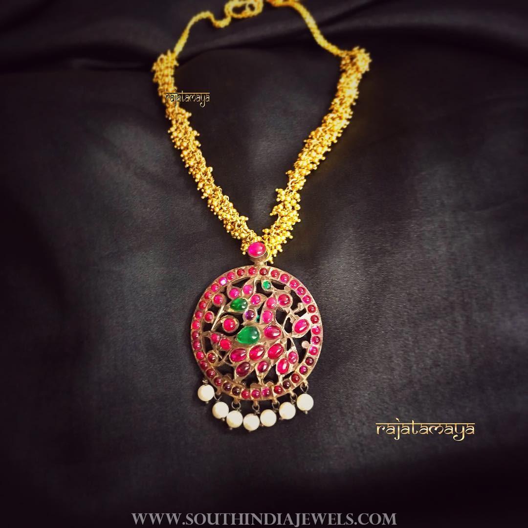 Short Antique Necklace From Rajatamaya