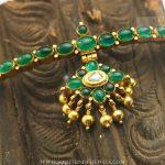 Traditional Emerald Attigai From Karpagam Jewellers