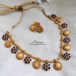 Latest Blue Coin Necklace Set
