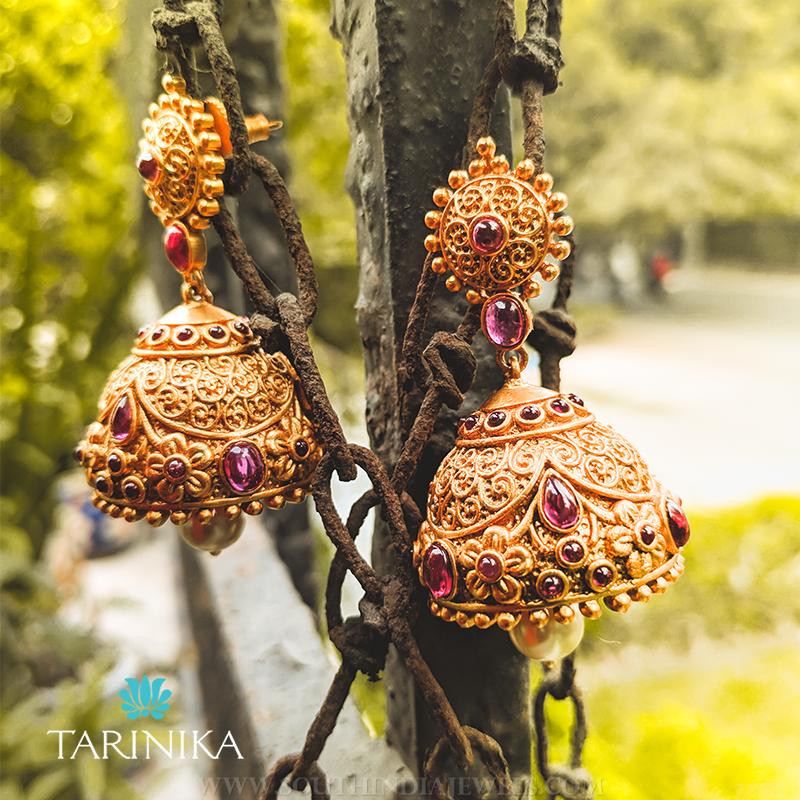 Antique Jhumka Design From Tarinika