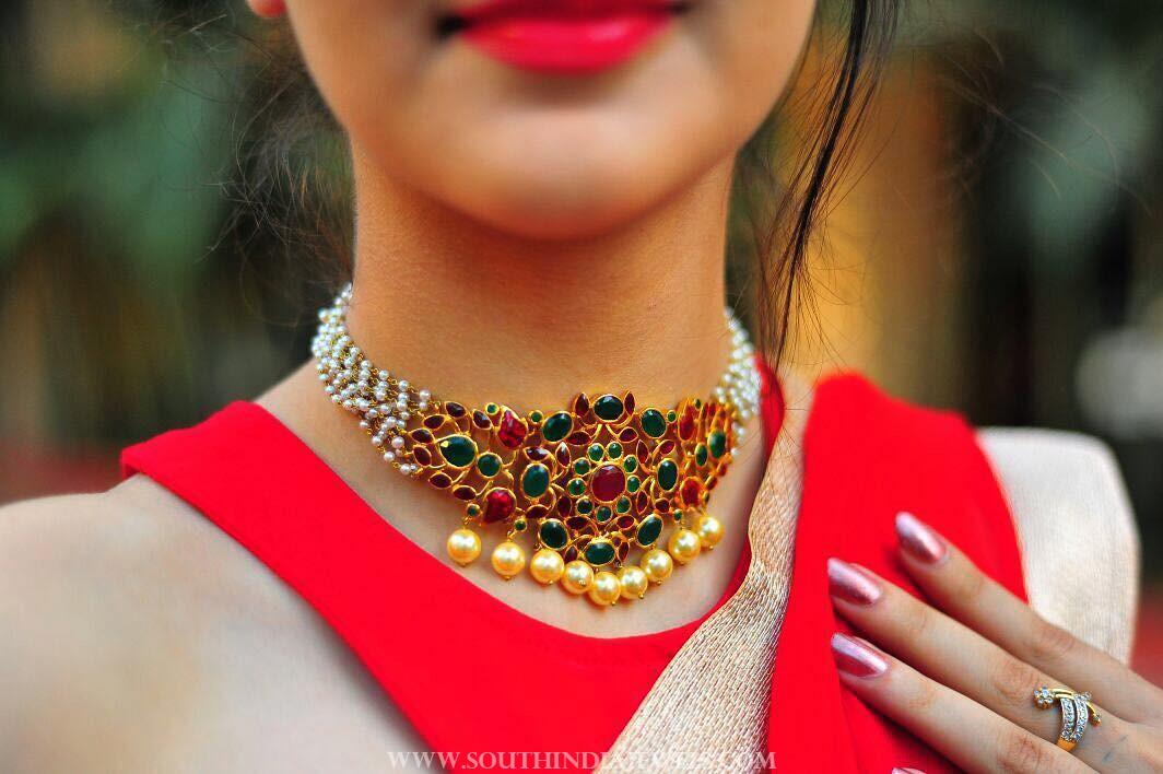Pearl Choker Necklace By Aarni