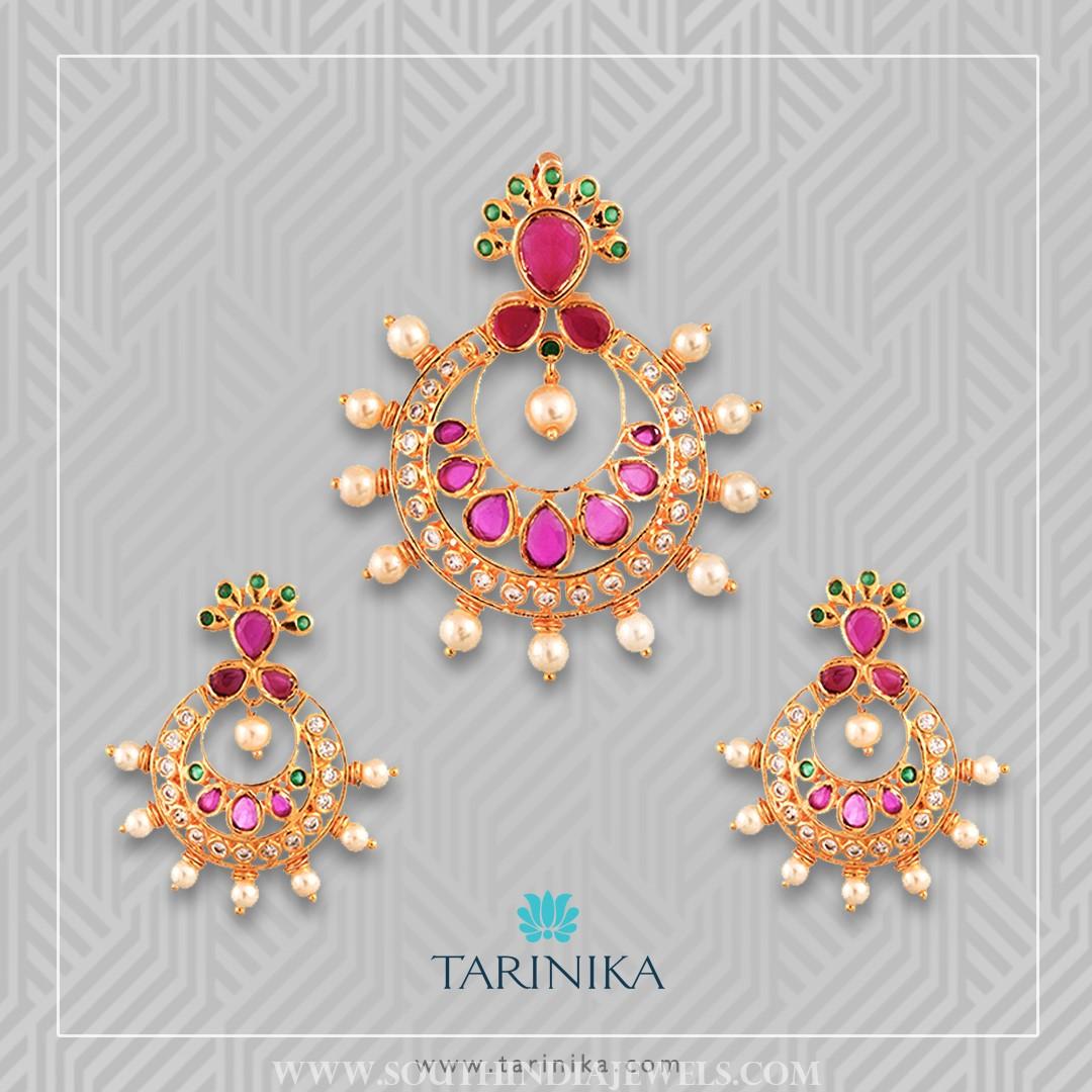 Gold Plated Pendant Set From Tarinika