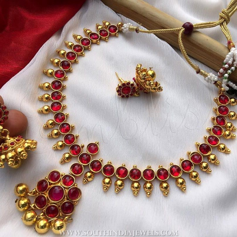 Antique Ruby Attigai From Emblish