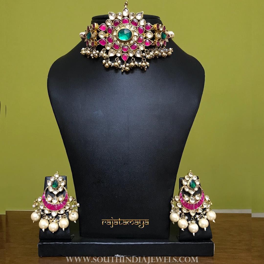 Bridal Kundan Choker Set from Rajatamaya